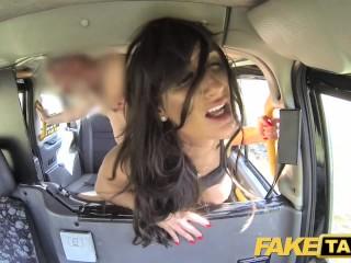 Spiked Dildo Fucking, Fake Taxi Sex mad busty cock loving horny brunette Brunette Hardcore Pornstar