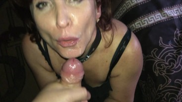 Milf Deepthroat cum on face