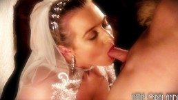 ---(@ I DO @)--- Passionate Wedding Night Sex Cum Facial For Young Bride!
