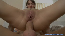 Perfect Natural Tits & Super Hot Body Teen Take A Big Cock Up Her Tiny Ass!