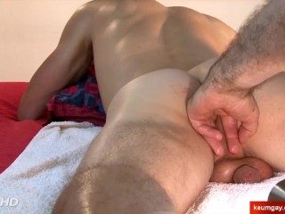 Alex, the neighbour serviced in a gay porn in spite of him