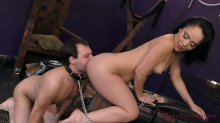 Kristina Rose Makes Slave Marcelo Suck Her Asshole - Femdom & Ass Worship