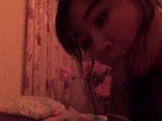 Chinese girl sucking my dick