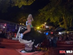 Naked Sluts Bull Riding at Flash Fest 2018 Wild and Out of Control