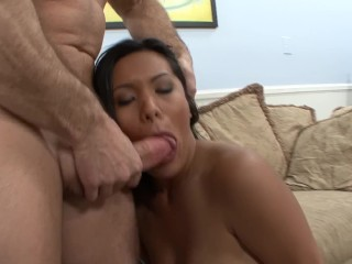 Huge Tit Milf Sucks, Fucks and Gets Facialed