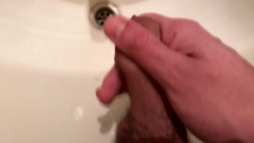 Masturbating and Jerking Off in the Bathroom - So horny day