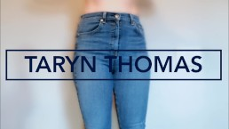 Hot Babe Big Booty Tight Jeans Anal Brunette Dirty Talking Taryn Thomas