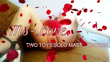 """""""Ms Love"""" TWO ADULT TOYS AND HOME SOLO MASTURBATION ORGASM"""