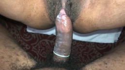 Squirting hard on that big dick