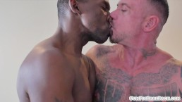 Wolf interracially barebacked by horny stud