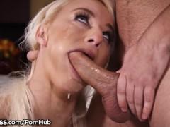 Blowpass Blonde Big Tit MILF Sucking Ur Dick Sloppy POV Style