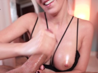 I'm driving you crazy! Stop and go handjob with ruined orgasm
