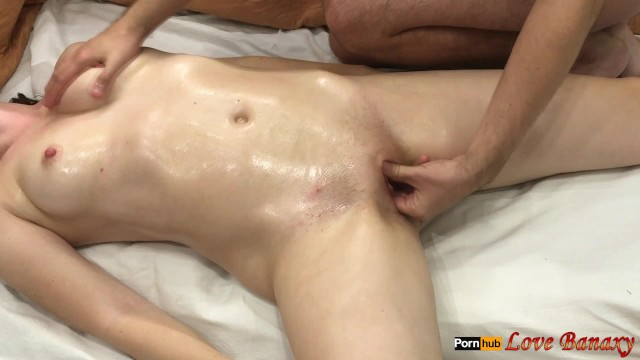 Sexy o n o Sexy oil massage to each other with mutual handjob