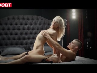 Teen Blonde Enjoys Sensual Fuck While Maid Watches