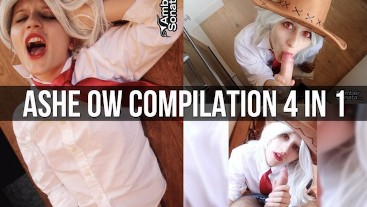Ashe Overwatch Cosplay Compilation