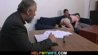 To nail stranger his wife man old pays young wife share