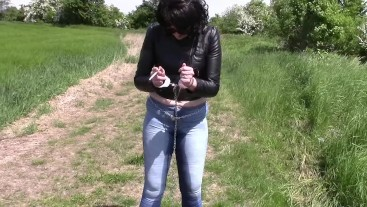 Smoking cigarettes in handcuffs after pissing