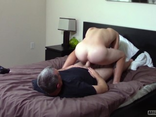Young blond jock straight tricked by daddy in...