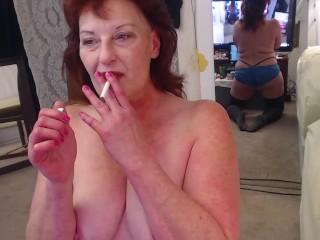 V171 Smoke, Dirty talk and gaggy sloppy blowjob