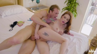 Twistys - Hot babe Anna De Ville takes hard cock up her pussy and ass