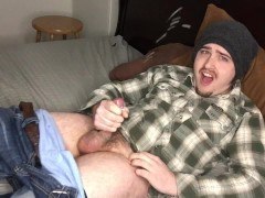 Moaning Vocal Guy Cums Twice! Clip from My Multi Cum JOI Video! Slow Motion