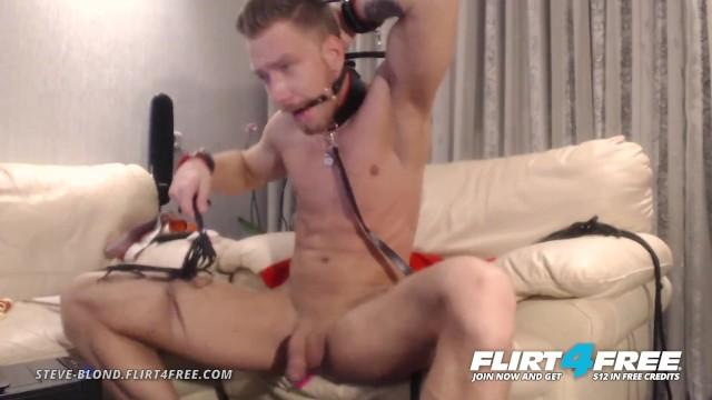 Gay mark porn star steve - Steve blond on flirt4free - hot euro stud tortures himself with bondage