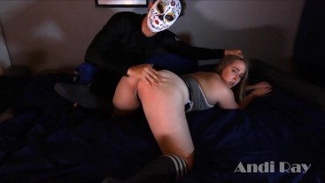 ANDI RAY DOMINATED BY MRLUCKYPOV: SPANKED, SLAPPED, & GAGGING ON COCK