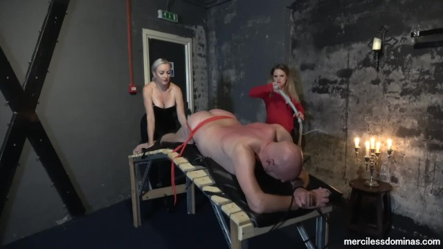 You Can't Get Away – Miss Jessica Wood and Miss Hunter Whipping Loud Slave