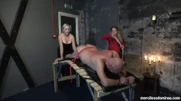 You Can't Get Away - Miss Jessica Wood and Miss Hunter Whipping Loud Slave