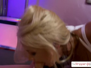 The Stripper Experience – Sarah Vandella sucking a big fat cock, big boobs
