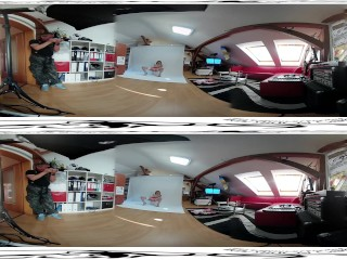 Teen Sarah girl photoshoot before whitebox masturbation vr scene 3DVR360 UD