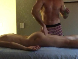 Skinny Brunette Gets Sensual Massage - Masseur Makes Her Squirt