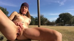 Sunny Outdoor Masturbation Bike Ride