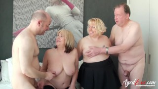 Old woman big black cock