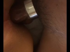 Asian son raw fucked & creamed by stepdad