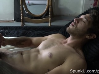 Hot Little Stud Rod Evans Poses and Jerks Off for the Camera