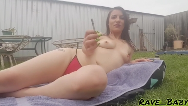 Suburban Smoking Slut : teasing you while I sunbake and smoke