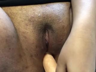 masturbating with my dildo -- loud