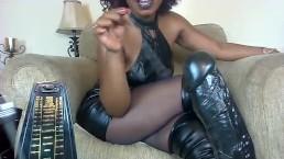 FemDom Hypnosis - Black Boots Black Dress Stockings