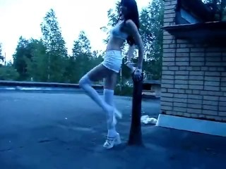 I snuck onto a roof to dance!