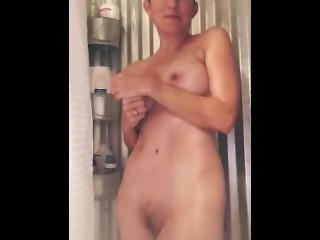 Amateur Milf Wife shower show