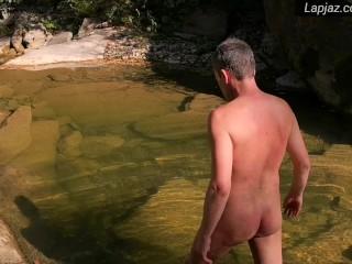 2 by river: Solo Male Wanking & Washing - Lapjaz.com Ecosexual Ecoporn