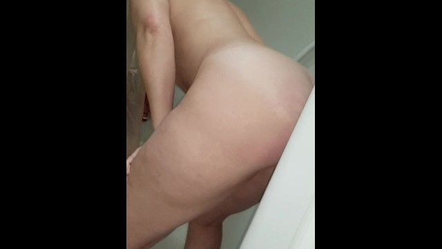 Caught dildo - Caught dildo ride in shower with 2 squirts