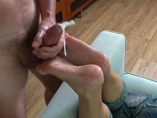 Sport Leggings Porn Foot Massage, Foot Fucking And Cumming On Wife S Soles - Footjob