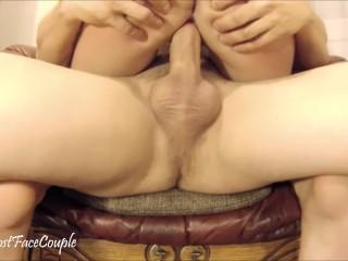 cumming hard in chair