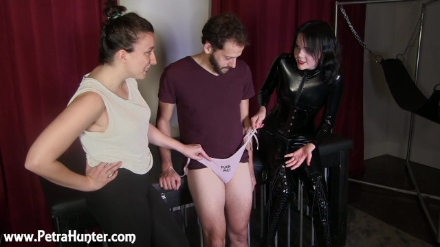 Small penis verbal humiliation - Humiliated for having a small dick put into panties