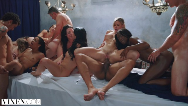Black women rides big black dick Vixen tori black in the greatest orgy ever filmmed