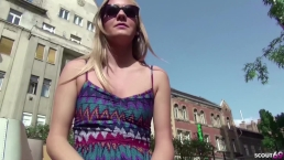 GERMAN SCOUT - Small Teen Lucette get First Anal Sex at real Public Casting