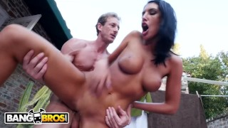 BANGBROS - Busty Beauty August Ames Gets Fucked Outdoors