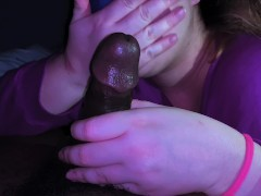 Bbw: He suspects me, so dude offloaded on my mouth, now he have a reason to